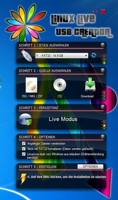 Mit dem Tool Linux Live USB Creator erstellt ihr auch einen USB-Stick mit Ubuntu.