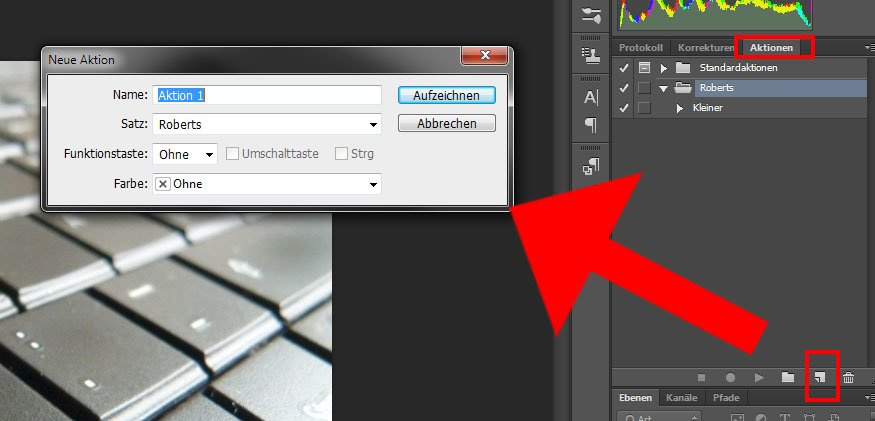 """Photoshop nutzt """"Aktionen"""", welche aber im Grunde Makros sind."""