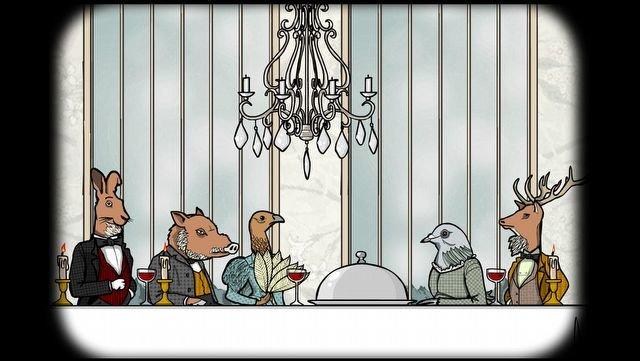 Rusty Lake Hotel: Die fünf illustren Gäste in Tiergestalt verfolgen alle ihre ganz eigenen Ziele.