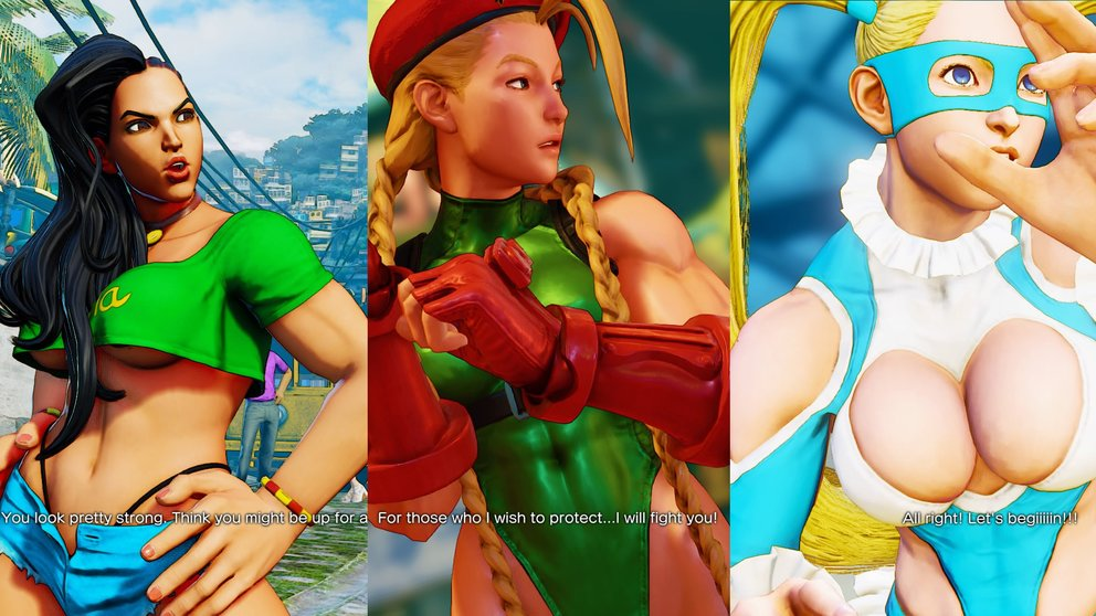 Street Fighter 5 Frauen Kämpfer Design