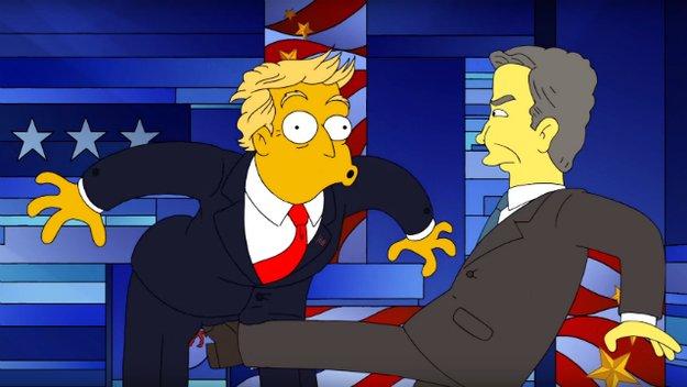 Wahlkampf in Springfield: Donald Trump bekommt bei den Simpsons einen vor den Latz