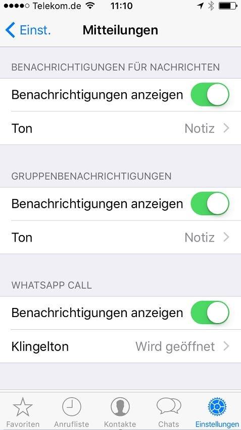 Whatsapp Stummschaltung Aufheben