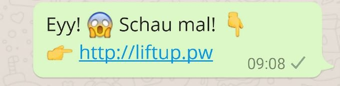WhatsApp Ey schau mal Screenshot
