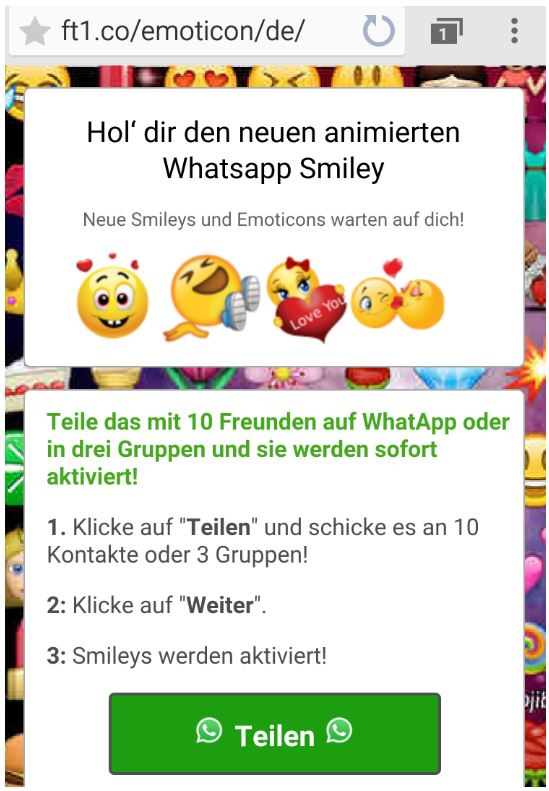 Whatsapp Eyy Schau Mal Neue Smileys Achtung Abo Falle Giga