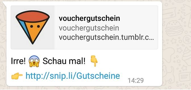 WhatsApp Vouchergutschein