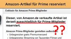 Amazon: Artikel ist für Prime-Mitglieder reserviert – Trotzdem ohne Prime bestellen (Anleitung)