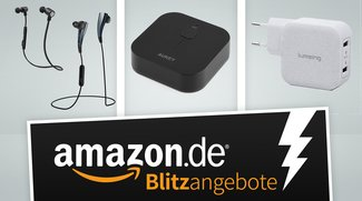 Bluetooth-Kopfhörer, Bluetooth-Audio-Adapter und Lade-Adapter in den Amazon-Blitzangeboten