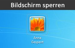 Bildschirm sperren (Windows,...