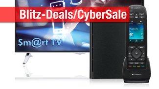 Blitzangebote und CyberSale: NAS für 79 Euro, Telefunken-TVs mit 50% Rabatt, SSDs, Harmony-Fernbedienung u.v.m. billiger