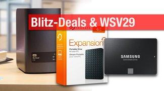 Blitzangebote und WSV29: Festplatten,NAS, SSD zum Bestpreis + Apple-Technik und mehr mit viel Rabatt