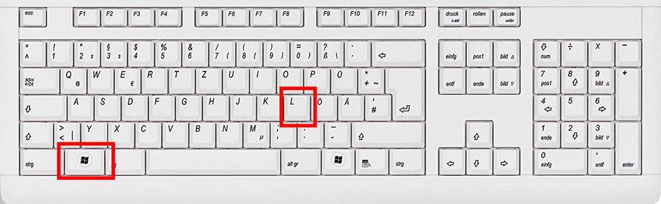Mit der Windows- und der L-Taste sperrt ihr den Bildschirm.