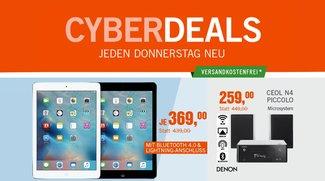 CyberDeals: iPad Air (32GB) zum Bestpreis, AirPlay-Anlage von Denon u.v.m. die Woche vergünstigt