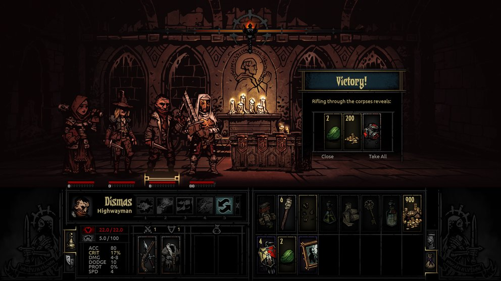Mit 14 verschiedenen Klassen könnt ihr in Darkest Dungeon kämpfen