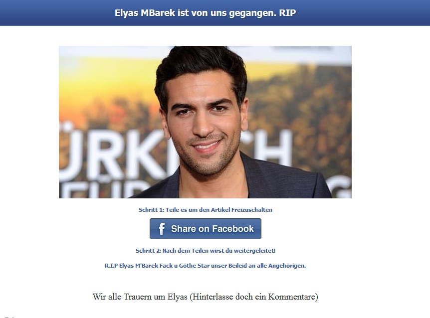 Elyas Mbarek Tot Todesnachricht Kursiert Bei Facebook Und Co