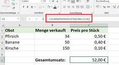Excel: SUMMENPRODUKT anwenden – so geht's