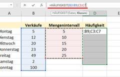 Excel: Häufigkeit berechnen...