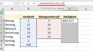 Excel: Häufigkeit berechnen – ganz einfach