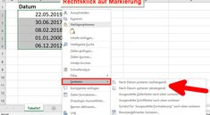 Excel-Tabelle nach Datum sortieren – so geht's