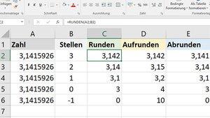 Excel: Runden, auf- & abrunden – Einfach erklärt