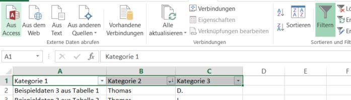 Excel: Tabellen vergleichen und zusammenfügen - GIGA