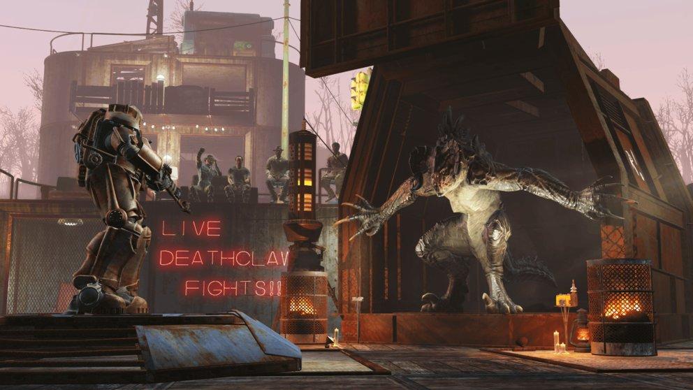 """Mit dem DLC """"Wasteland-Workshop"""" könnt ihr Todeskrallen fangen und sie in Arenakämpfen aufeinander oder gegen andere Spezies loslassen."""
