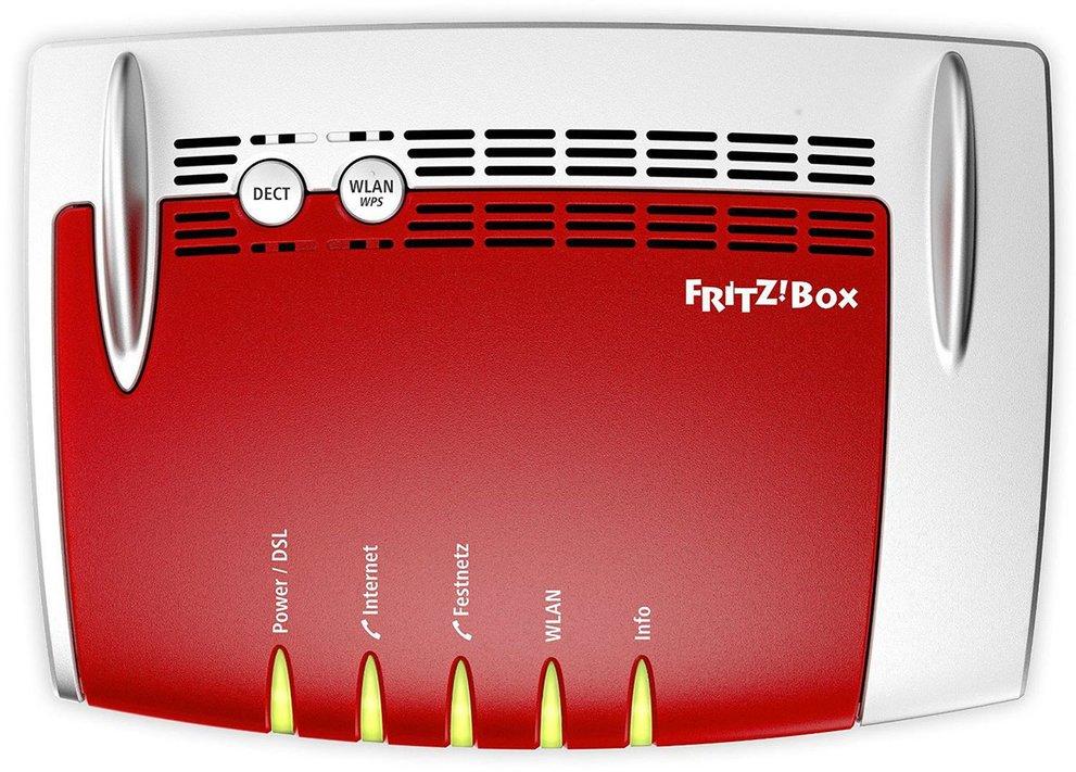 Über die WLAN-Taste könnt ihr das Funknetz an der Fritzbox ein- und ausschalten.