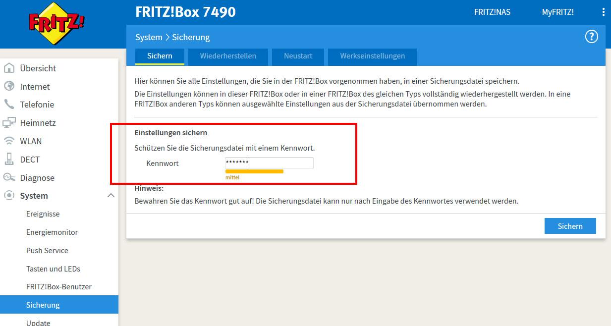 Fritzbox 7490 Zurücksetzen