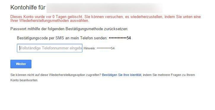 Handynummer interhesu: ohne google konto interhesu: Google