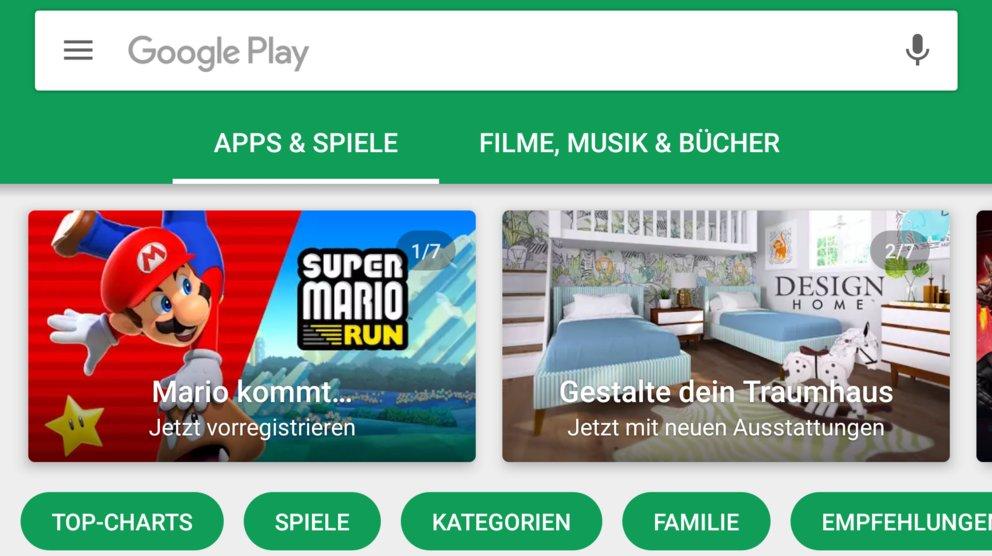 google-play-store-startseite