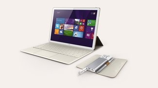 Huawei MateBook: Hands-On-Video zum Windows 10-Tablet mit Tastatur & Stylus