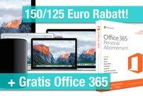 MacBooks (auch neue Modelle), iMacs, Mac Pros nur bis 12.06. mit Sofortrabatten und Beigaben:<b> Bis zu 293 Euro sparen!</b></b>