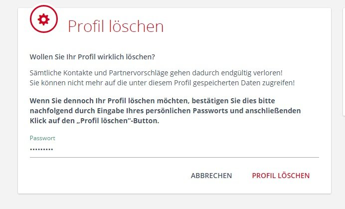 Parship Profil Löschen App
