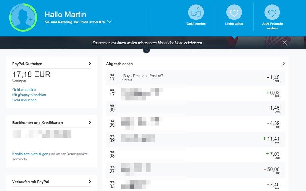 Paypal Guthaben Auf Girokonto