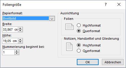 Powerpoint Format Seitenausrichtung Größe ändern So Gehts