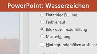 PowerPoint: Wasserzeichen hinzufügen – So geht's