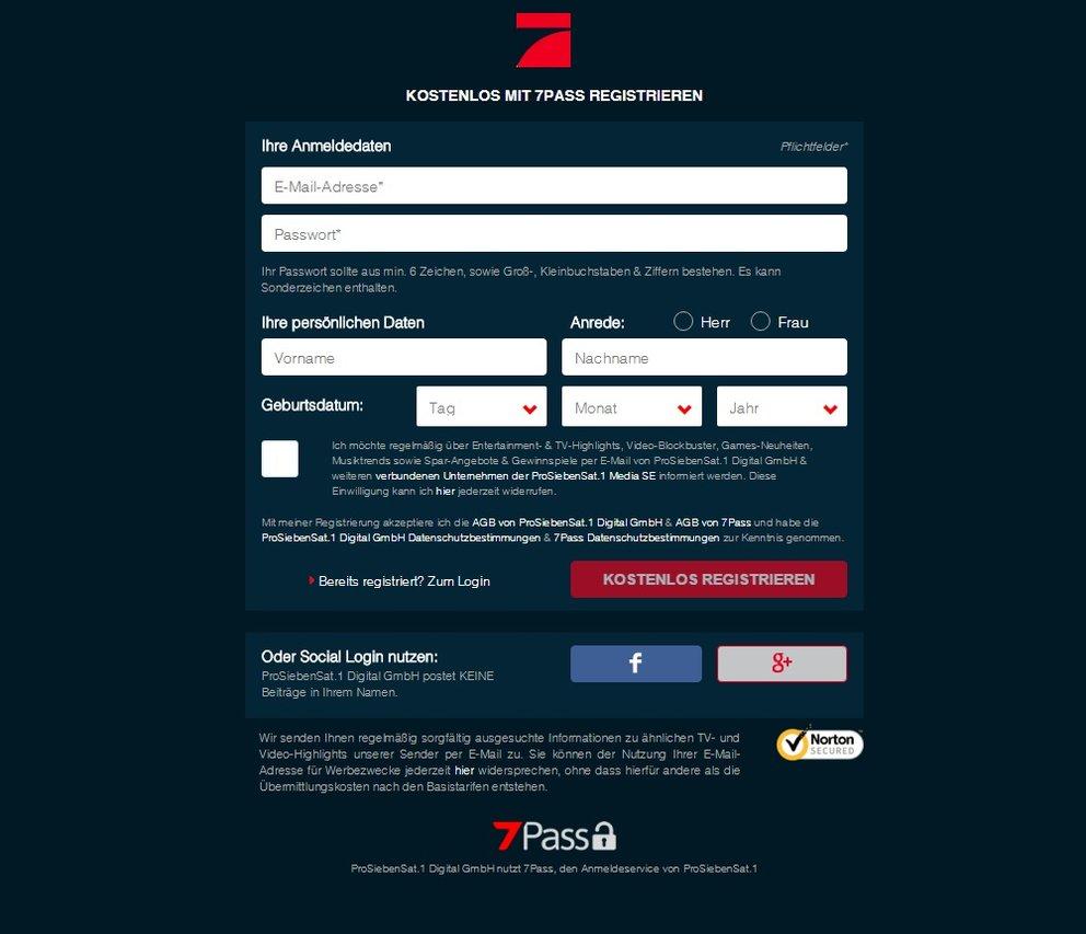 pro7 livestream login pro7 pass
