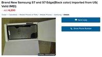 Samsung Galaxy S7 edge: Kleinanzeige in Dubai zeigt Gerät und Inhalt der Packung