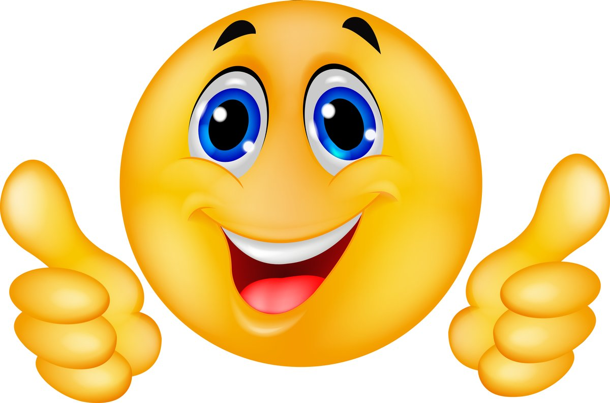 Smiley daumen drücken Daumen hoch