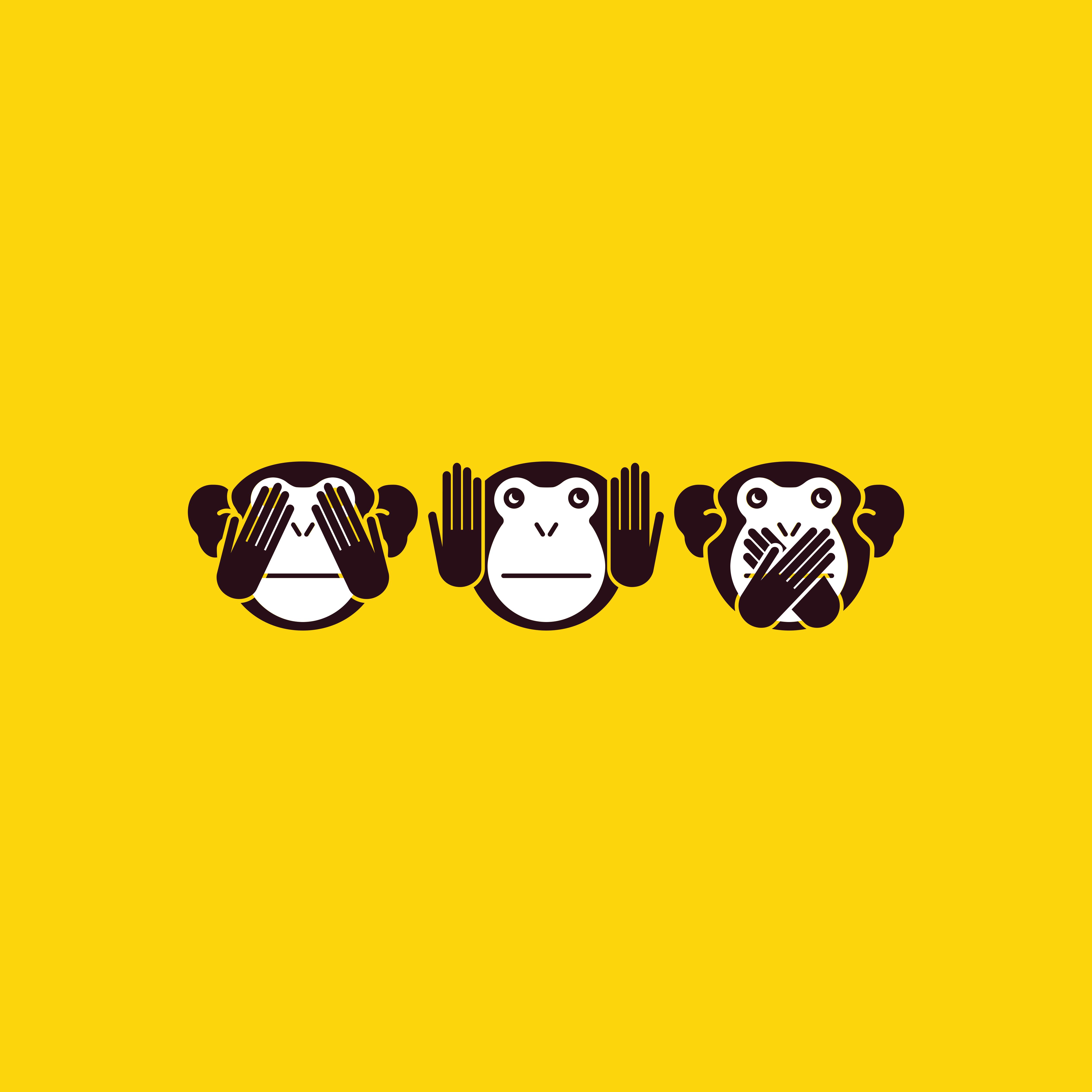 Augen affe die der zuhält sich Emoji nichts
