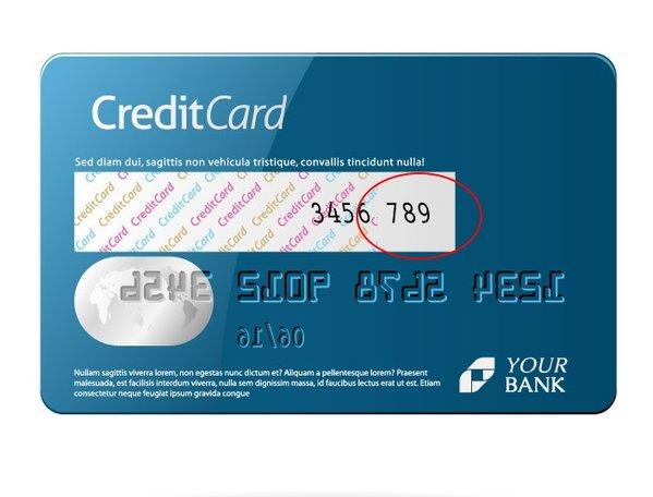 Kreditkarte Sicherheitscode Angeben