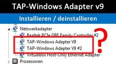 TAP-Windows Adapter v9 – Was ist das? Wie Treiber installieren / deinstallieren?