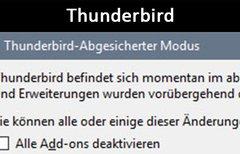Thunderbird: Abgesicherter...