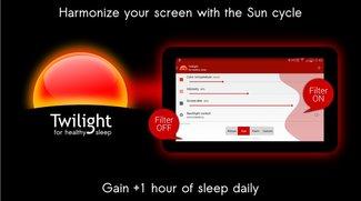 Displayfarben anpassen für besseren Schlaf: Twilight Pro aktuell für 10 Cent im Play Store