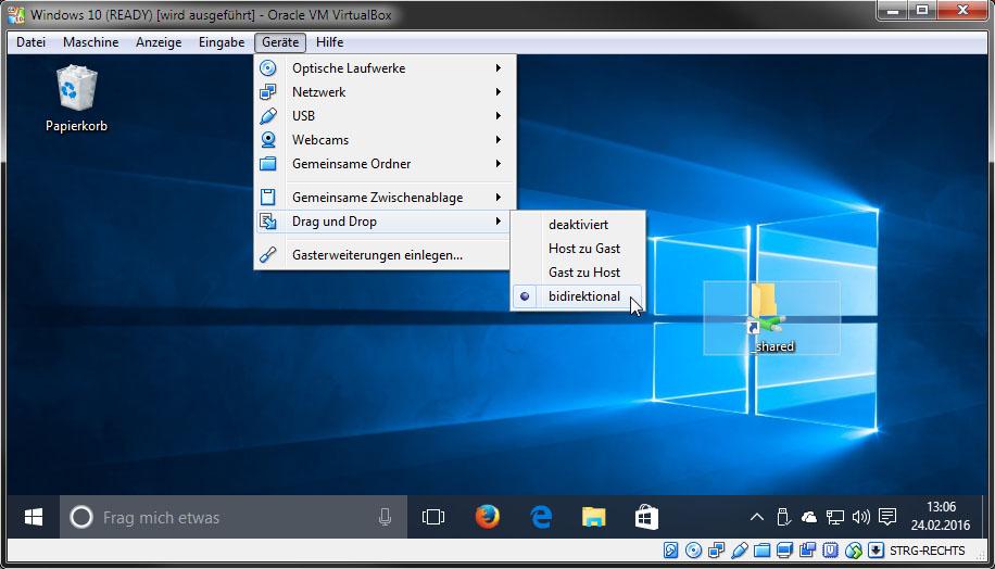 Virtualbox Dateien Kopieren