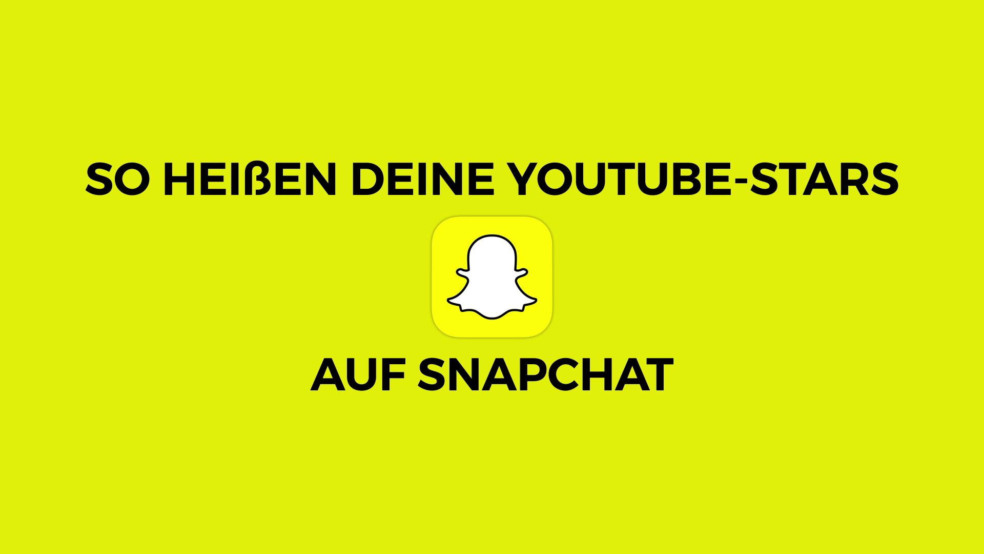 Youtuber Auf Snapchat