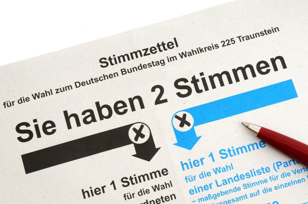 Stimmzettel für die Briefwahl / Absentee ballot for the German election
