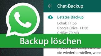 WhatsApp: Backup löschen (auch Google Drive) – so geht's