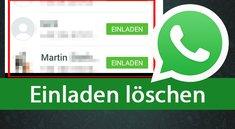 WhatsApp: Einladen löschen und Button entfernen – so gehts