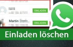 WhatsApp: Einladen löschen...