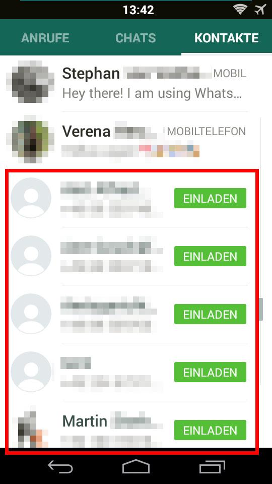 Messenger Kontakte Entfernen